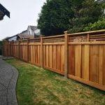 Cedar fencing with lattice top