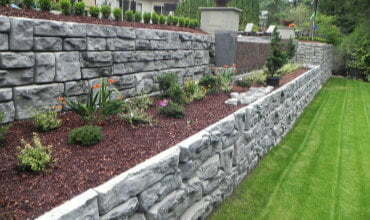 Residential retaining wall builders in Langley BC