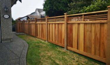 Custom cedar fence builders in Langley BC