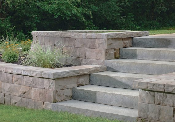 Retaining wall planters with steps built in Langley, BC