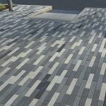 Grey and white staggered paving stones in Surrey BC